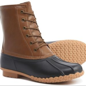 Khombu Leather Duck Boots-Waterproof & Insulated